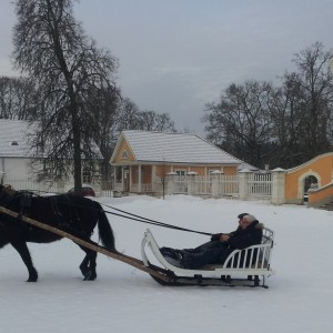 Riding a Sleigh Palmse manor/Palmse mõis